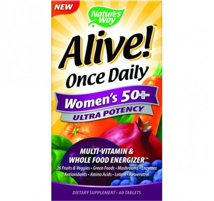 Alive! Once Daily Women's 50+ Ultra 60 Tablets