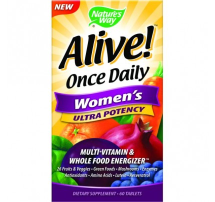 Alive! Once Daily Women's Ultra 60 Tablets