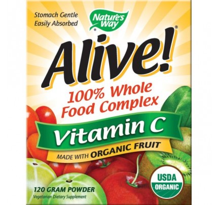 Alive! Organic Vitamin C Powder 120 Grams