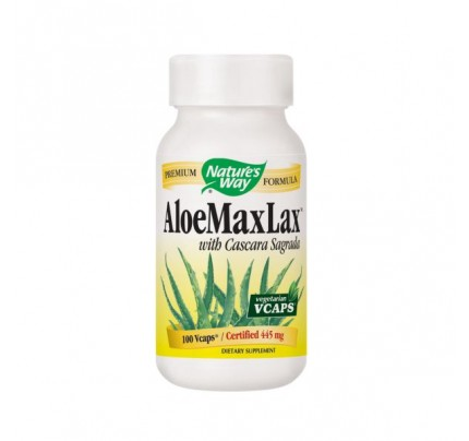 AloeMaxlax with Cascara Sagrada 445mg 100 Vegetarian Capsules