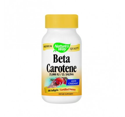 Beta Carotene 25,000 IU 100 Softgels