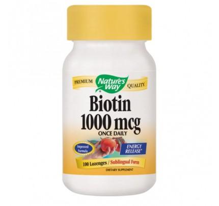 Biotin 1000mcg 100 Lozenges