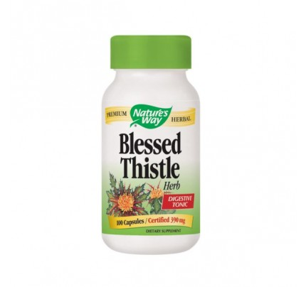 Blessed Thistle Herb Organic (stem, leaf, flower) 390mg 100 Capsules