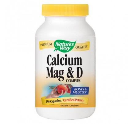 Calcium Magnesium & Vitamin D Complex 250 Capsules