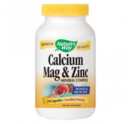 Calcium Magnesium & Zinc 255mg 250 Capsules