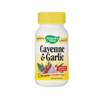 Cayenne & Garlic 530mg 100 Capsules