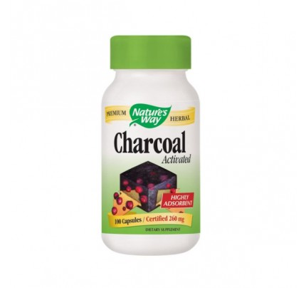 Activated Charcoal 280 mg 100 Capsules