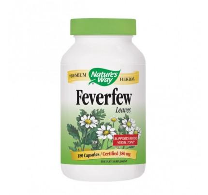 Feverfew Leaf 380mg 180 Capsules