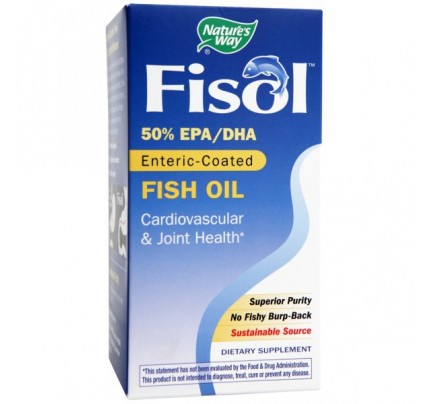Fisol Delayed-Release Fish Oil 750mg 180 Softgels