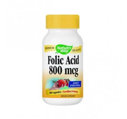 Folic Acid 800mcg 100 Capsules