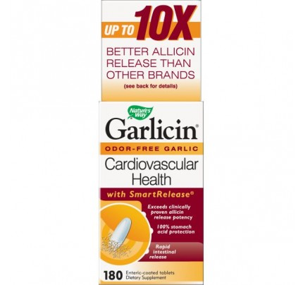 Garlicin Once a Day Enteric Coated 350mg 180 Tablets