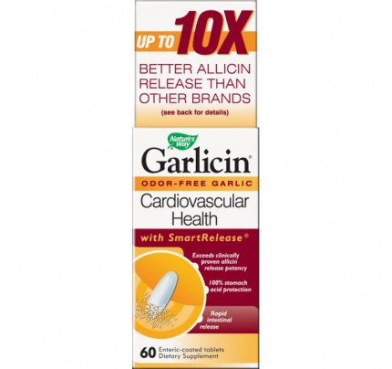 Garlicin Once a Day Enteric Coated 350mg 60 Tablets