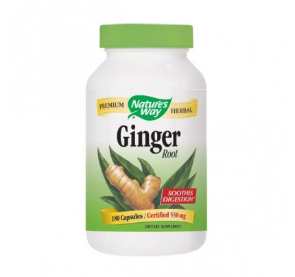 Ginger Root 550 mg 180 Capsules