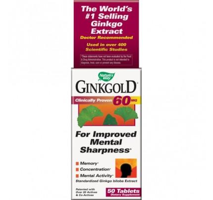Ginkgold 60mg 50 Tablets