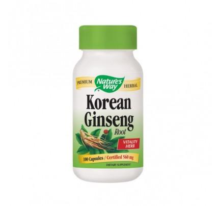 Korean Ginseng Root White 560mg 100 Capsules