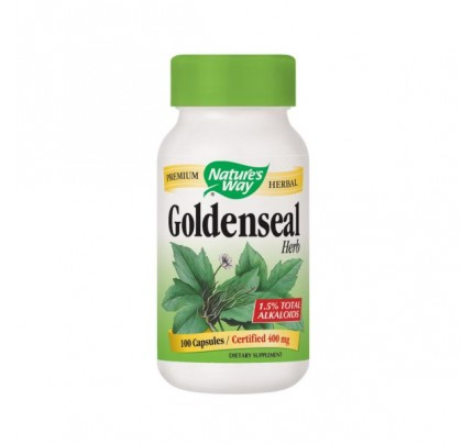 Goldenseal Herb (stem, leaf, flower) 400mg 100 Capsules