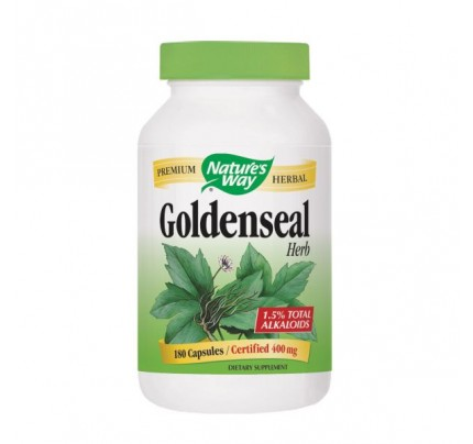 Goldenseal Herb (stem, leaf, flower) 400mg 180 Capsules