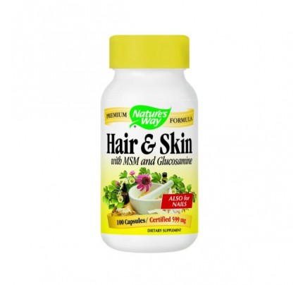 Hair & Skin with MSM and Glucosamine 100 Capsules