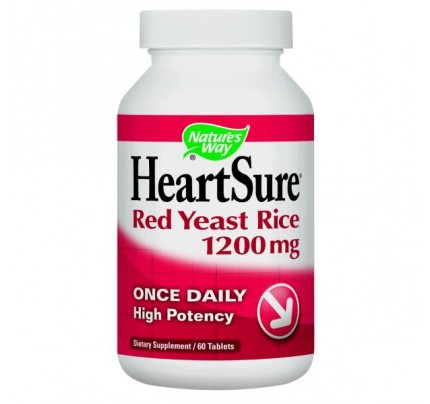 HeartSure Red Yeast Rice 1,200mg 60 Tablets