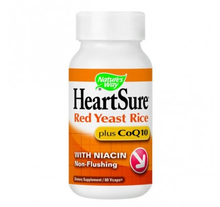 HeartSure Organic Red Yeast Rice with CoQ10 600 mg 60 Vegetarian Capsules