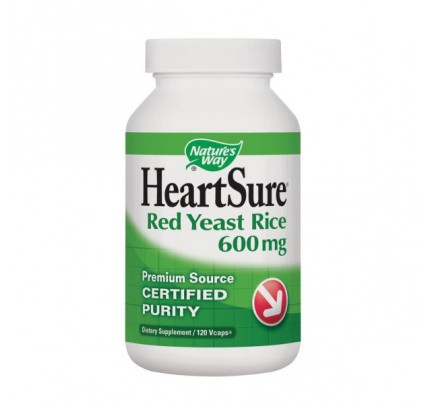 HeartSure Organic Red Yeast Rice 600 mg 120 Vegetarian Capsules