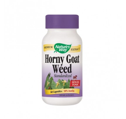 Horny Goat Weed Extract Standardized 500mg 60 Capsules