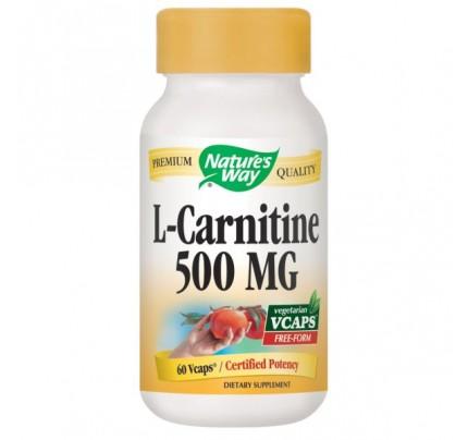 L-Carnitine 500mg 60 Vegetarian Capsules