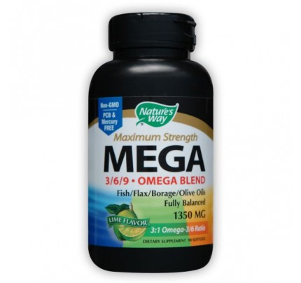 Mega 3-6-9 Blend 1,350mg 90 Softgels