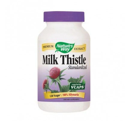 Milk Thistle Standardized Extract 80% Silymarin 80mg 120 Vegetarian Capsules