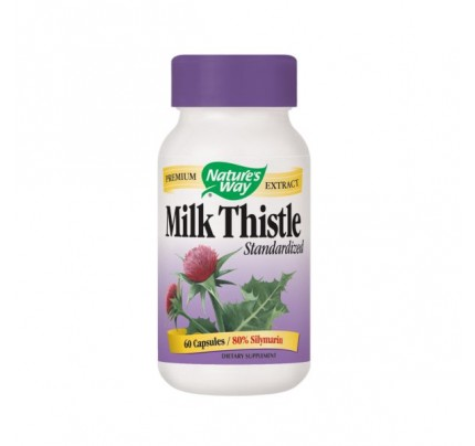 Milk Thistle Standardized Extract 80% Silymarin 80mg 60 Capsules