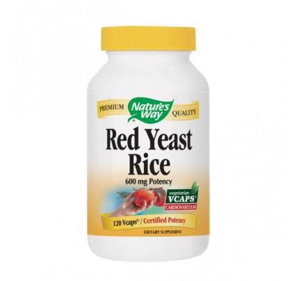 Red Yeast Rice 600mg 120 Vegetarian Capsules