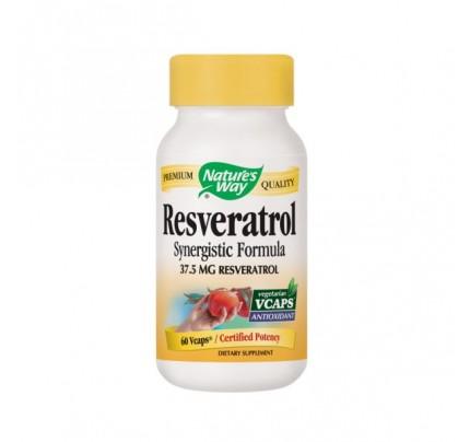 Resveratrol Synergistic Formula 75mg 60 Vegetarian Capsules