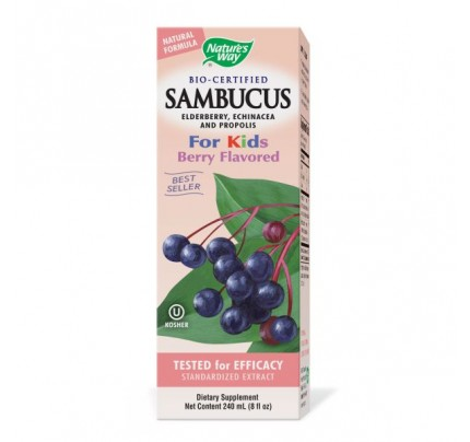 Sambucus Syrup for Kids 50mg 8oz.