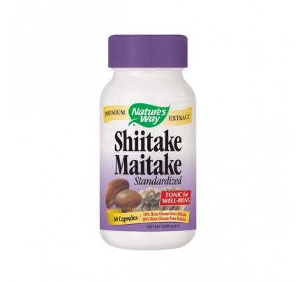 Shiitake & Maitake Standardized Extract 200mg 60 Capsules