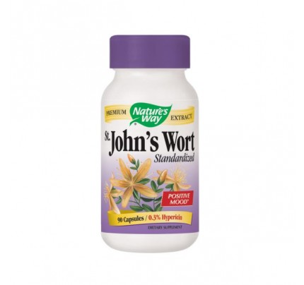 St. John's Wort Standardized Extract 0.3% Hypericin 300mg 90 Capsules