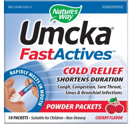Umcka FastActives ColdCare Powder Cherry 10 Packets
