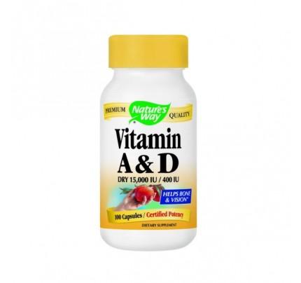Vitamin A & D 15,000 IU/400 IU 100 Capsules