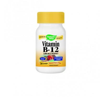 Vitamin B-12 2000mcg 100 Lozenges