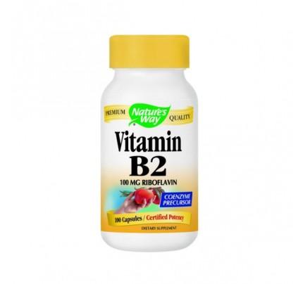 Vitamin B-2 100mg 100 Capsules