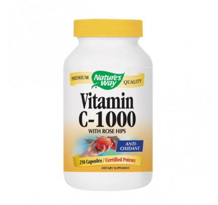Vitamin C 1000 mg with Rose Hips 250 Capsules