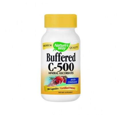 Vitamin C-500 Ascorbate Buffered 500mg 100 Capsules