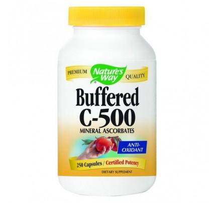 Vitamin C-500 Ascorbate Buffered 500mg 250 Capsules