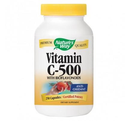 Vitamin C-500 with Bioflavonoids 800mg 250 Capsules