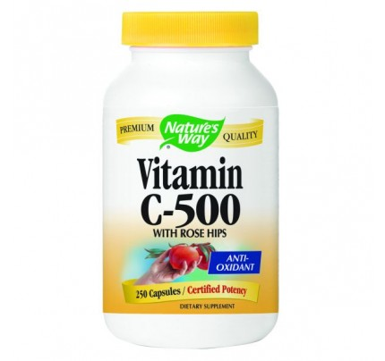 Vitamin C-500 with Rose Hips 600mg 250 Capsules