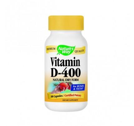 Vitamin D-400 IU Dry 100 Capsules