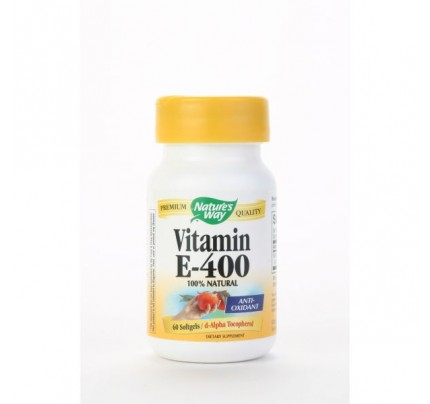 Vitamin E-400 IU D-Alpha with Tocopherols 60 Softgels