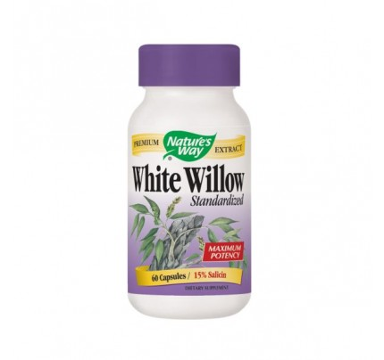 White Willow Bark Standardized Extract 450mg 60 Capsules
