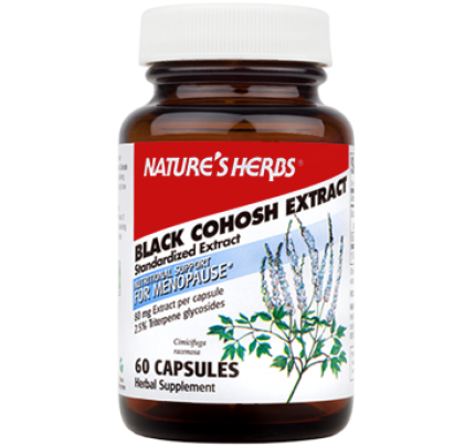 Black Cohosh Extract 2.5% Standardized 80 mg 60 Capsules
