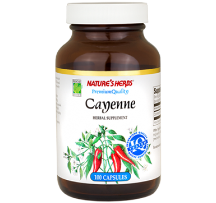 Cayenne Fruit 450mg 100 Capsules