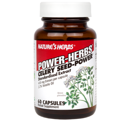 Celery Seed Power 2.2% Standardized Extract 450mg 60 Capsules